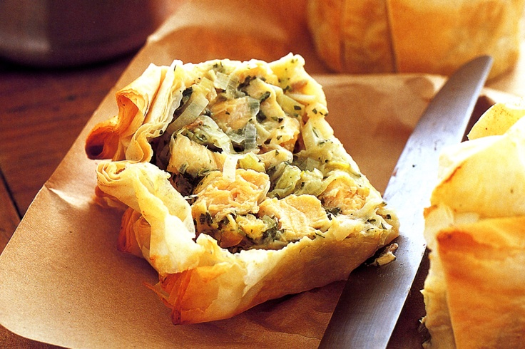 Red Salmon & Leek Pie