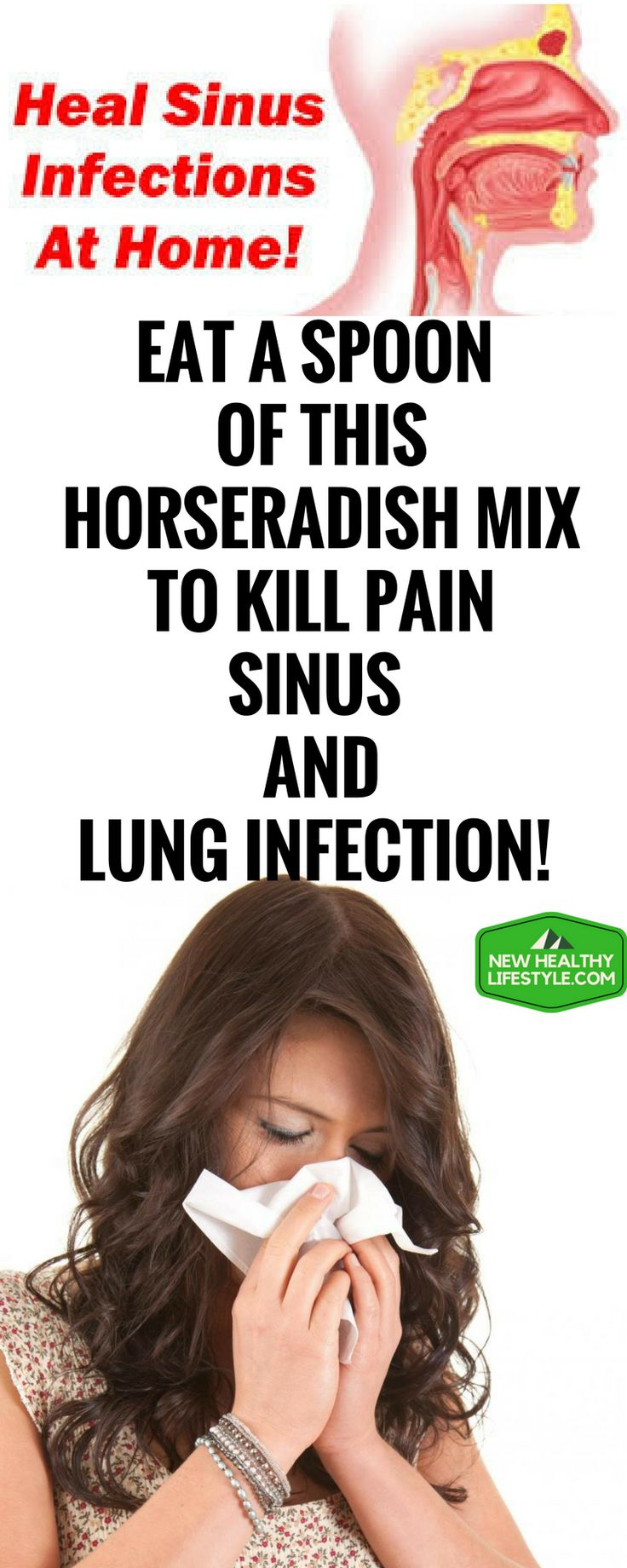 EAT A SPOON OF THIS HORSERADISH MIX TO KILL PAIN, SINUS AND LUNG INFECTION!,.,.