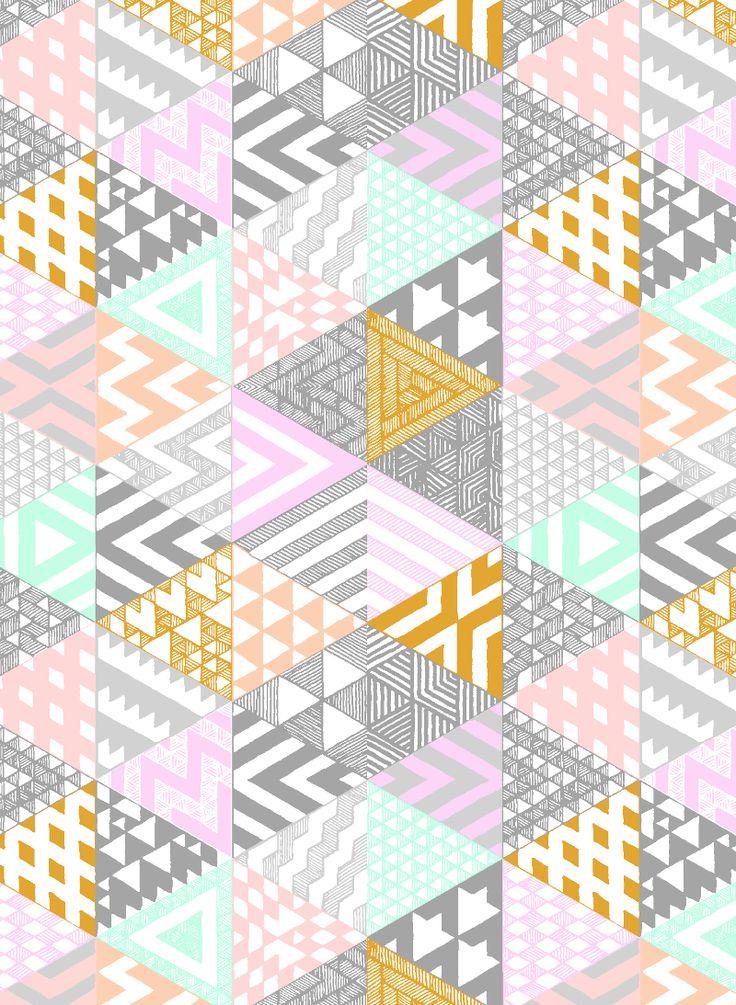 Aztec Ice-Cream - jacqueline colley. Basicamente uma coleção de texturas em formas de triângulos