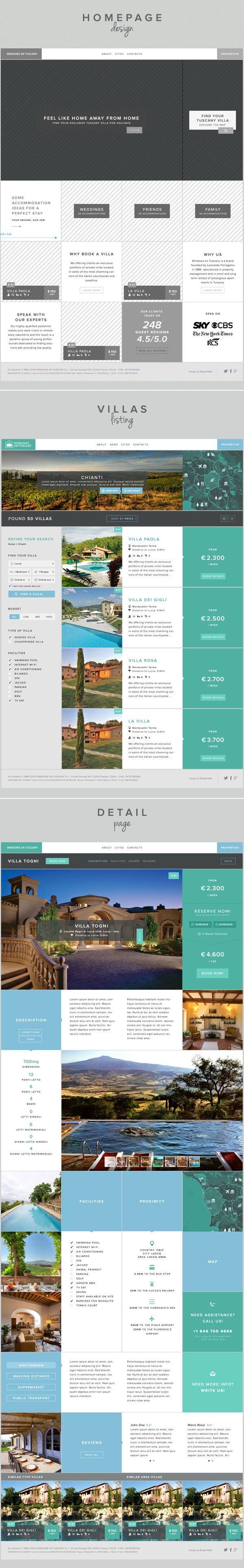UI/UX design - Windows on Tuscany