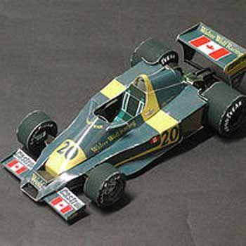 F1 Paper Model - Walter Wolf Racing Model 5 Paper Car Free Vehicle Paper Model Download