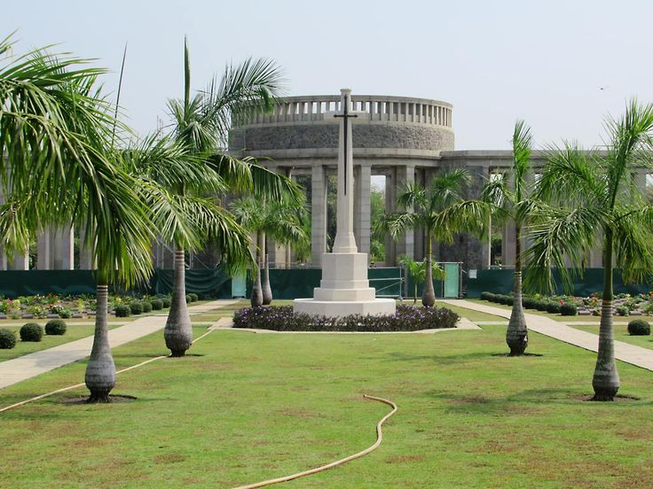 The Htauk Kyant War Cemetery near Yangon, Myanmar (Burma), contains 6,374 graves of Allied soldiers who died in World War Two. A memorial lists the names of 27,000 others with no known place of burial.