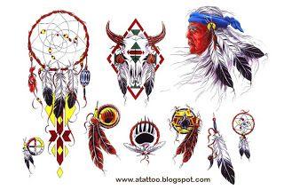 TATTOO ART: Índios Americanos - DESENHOS