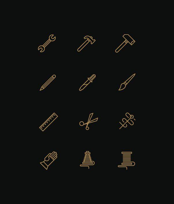 Icons by Tim Boelaars, via Behance