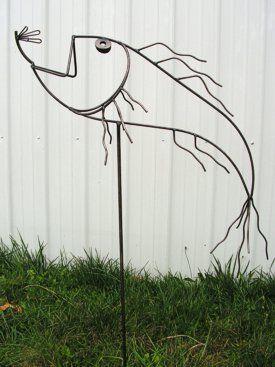Metal yard art.                                                                                                                                                                                 More