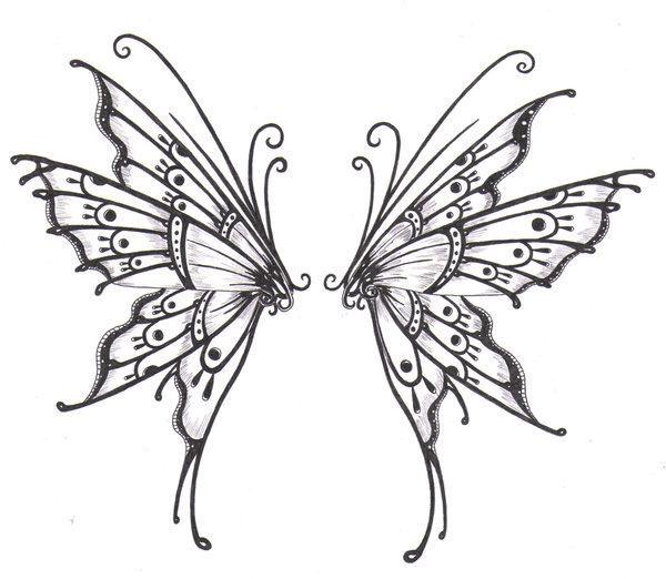 Ms de 25 ideas increbles sobre Dibujo alas de hadas en Pinterest