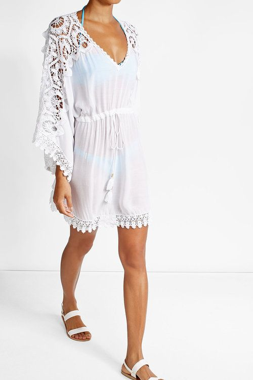 Melissa Odabash - Cover-Up with Crochet Trim