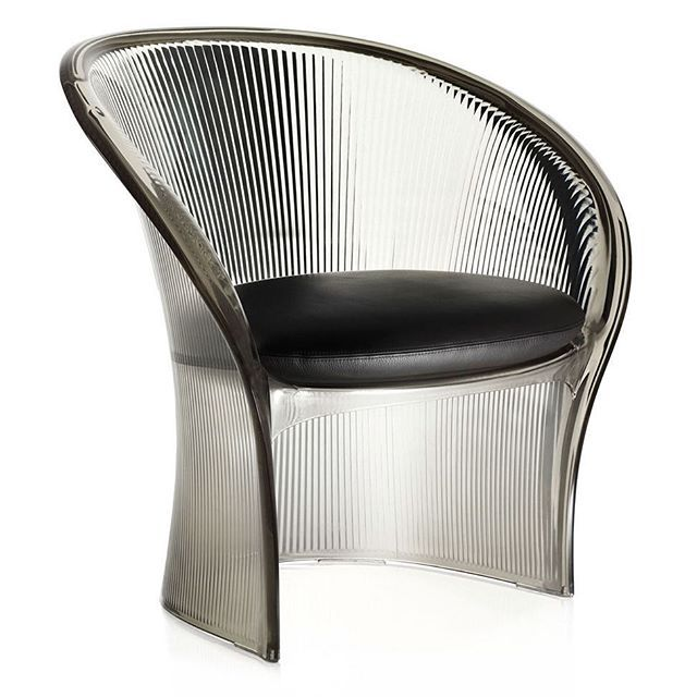 #French #designer #PierrePaulin is known for creating #sculptural #modern #furniture. His career spanned over 60 years, creating iconic designs such as the #mushroomchair, #toungechair and the #ribbonchair.  The #FlowerChair is one of the last pieces that Paulin ever created. The chair was created in #2009, shortly before his death.  The #chair is made from moulded polycarbonate, and features a moulded form that is referential to his #organic designs of the 60s.  Available from @magis_design