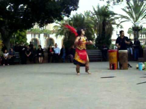 Aztec Dancers at Olvera Street (La Placita Olvera)