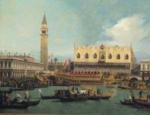 Giovanni Antonio Canal, detto il Canaletto, Il Bucintoro al molo nel giorno dell'Ascensione, 1740, Olio su tela,120,5 x 157 cm.