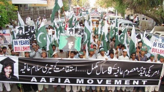 #Pakistan demonstrators call for #neuroscientist #Aafia #Siddiqui's #release