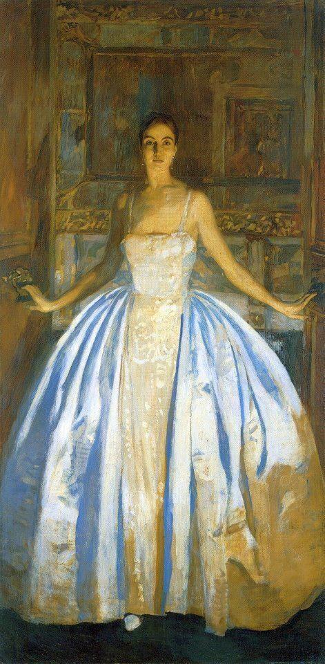 La Contessa Malacrida by Ettore Tito (1859 – 1941), an Italian artist
