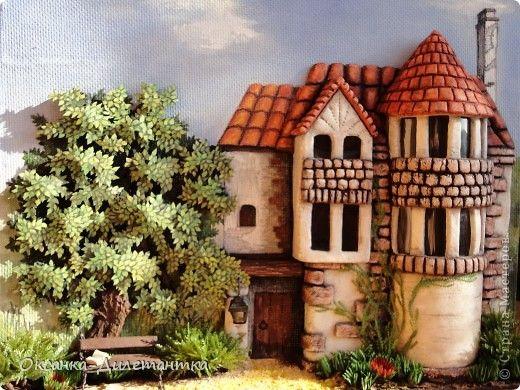 Сказочный домик из соленого теста: мастер класс по лепке