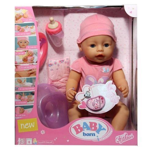 Baby Born Interactive Crying Toilet Real Baby Born Girl