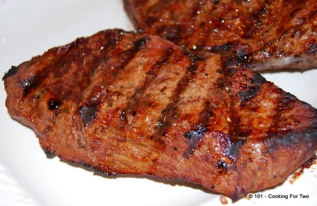 Bourbon Street Steak A La Applebee's. I have always wondered how a relatively cheap piece of beef got so good. If this was a throw down, I'd win. Better taste, tender and definitely more moist.