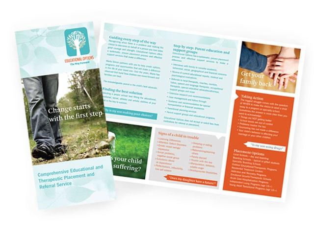 brochure design-- like the layout!