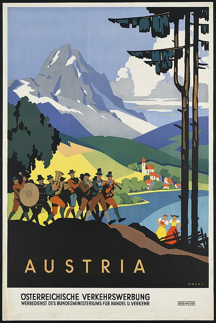 Austria attributed to the travel ministry office circa 1910-1959