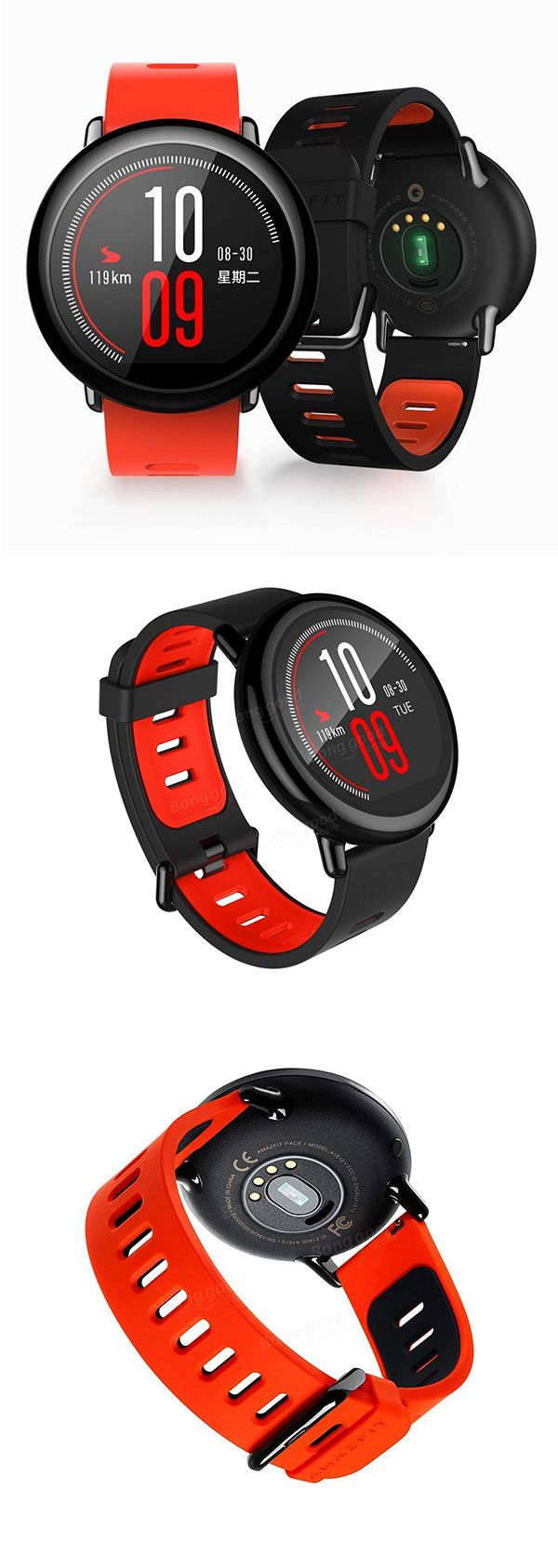 AMAZFIT Xiaomi IP67 Waterproof Zirconia Ceramics Bluetooth GPS Heart Rate Monitor Watch(English Version)