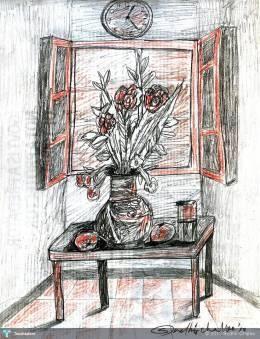 """Flower Pot"" #Creative #Art in #sketching @Touchtalent"