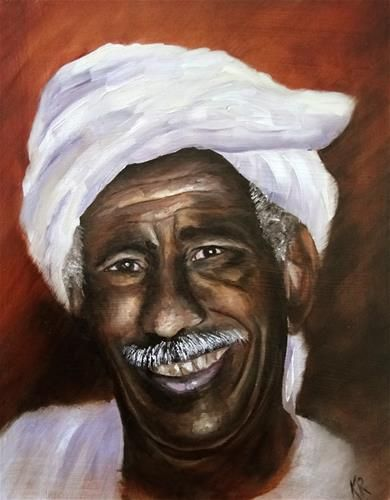 """Daily Paintworks - """"A happy man (with demo)"""" by Karen Robinson"""