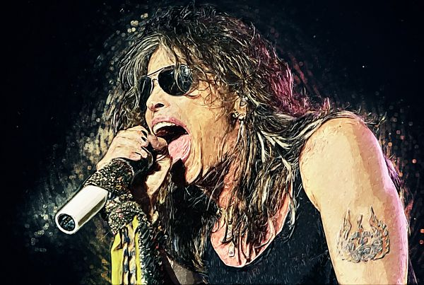 Steven tyler, Aerosmith, portrait, digital painting, hard rock, heavy metal, blues rock, country, rock and roll, rock music, musician, singer, chain reaction, kings of chaos, the demon of screamin', toxic twins, joe perry, Boston, glam rock, glam metal, concert, singing, screaming, poster, wall art, home decor, office decor, studio, cafe, bar, pub, living room, bedroom, guitar, guitarist, cool, gift ideas, Massachusetts, tom hamilton, brad whitford, joey Kramer, 1980s