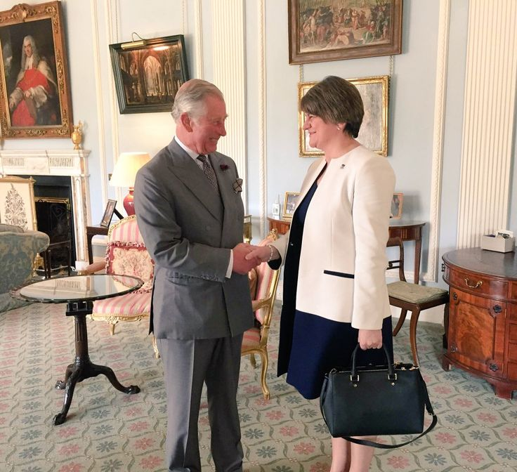 "Clarence House on Twitter: ""The Prince of Wales receives Mrs Arlene Foster, First Minister of Northern Ireland. #RoyalVisitNI"