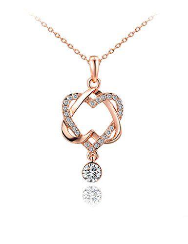 "Buckeye Embedded Zircon Double Heart Rose Gold Plated Pendant Necklace,20"" Buckeye http://www.amazon.com/dp/B018VBBS7I/ref=cm_sw_r_pi_dp_StBywb0ZYRX32"