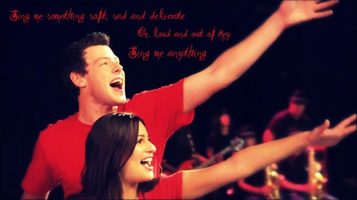 Rachel and Finn from Glee, because in the early seasons they were just a boy and girl from opposite sides of the social spectrum coming together through music.