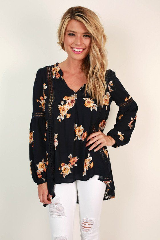 Flirty in Floral Top