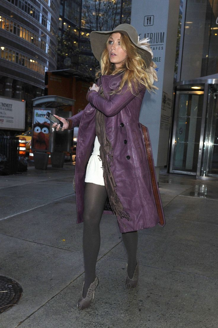Fashion look from june 2014 featuring thigh high hosiery purple - Blake Lively In Pantyhose Http Stockings Celebs Blogspot Com