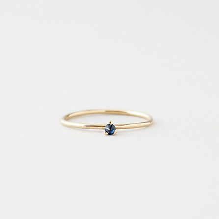 TINY SOLITAIRE RING WITH SAPPHIRE - Steven Alan