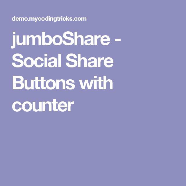 jumboShare - Social Share Buttons with counter