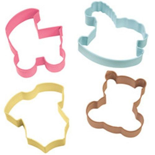 Wilton Baby Shower Cookie Cutter Set; Baby Cookie Cutters; Baby Shower Cookies; Unique Shower Food; Metal Cookie Cutter Set; Wilton Products by trishah55 on Etsy