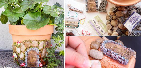 Πώς να φτιάξετε μοναδικές Γλάστρες Νεραϊδόσπιτα!!! Οδηγίες Βήμα-Βήμα!   Φτιάξτο μόνος σου - Κατασκευές DIY - Do it yourself