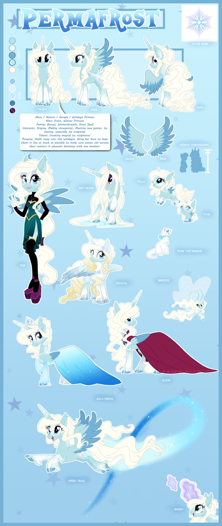 Reference Sheet: Permafrost by ArcadianPhoenix on DeviantArt