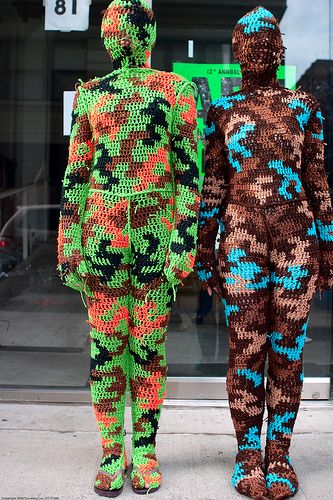 crochet by OlekCrochet Artworks, Crochet Fun, Agata Olek, Acrylic Art, Birthday Gift, Acrylics Art, Crochet Wearable, Art Center, Yarns Bombs