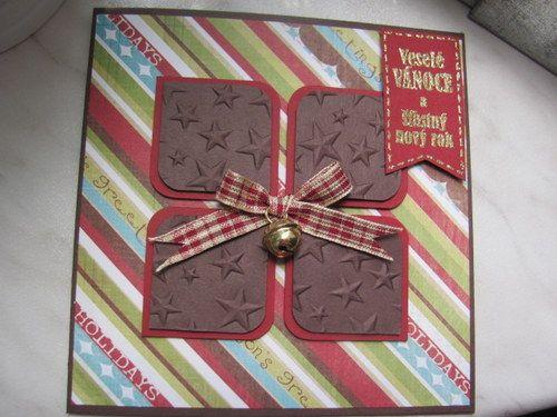 Kousky čokolády s vánoční rolničkou