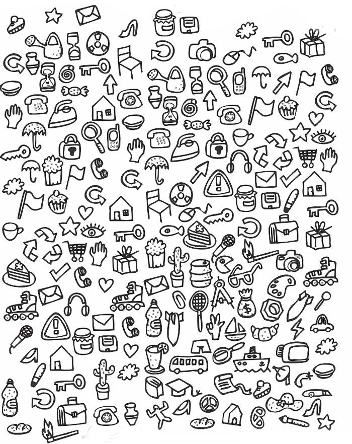 Картинки много мелких предметов