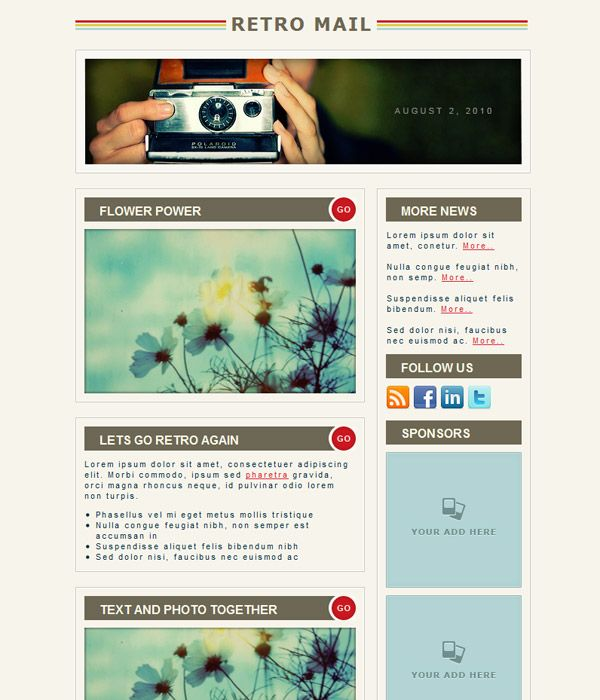 23 best Newsletter Design Ideas images on Pinterest Email - news letter formats