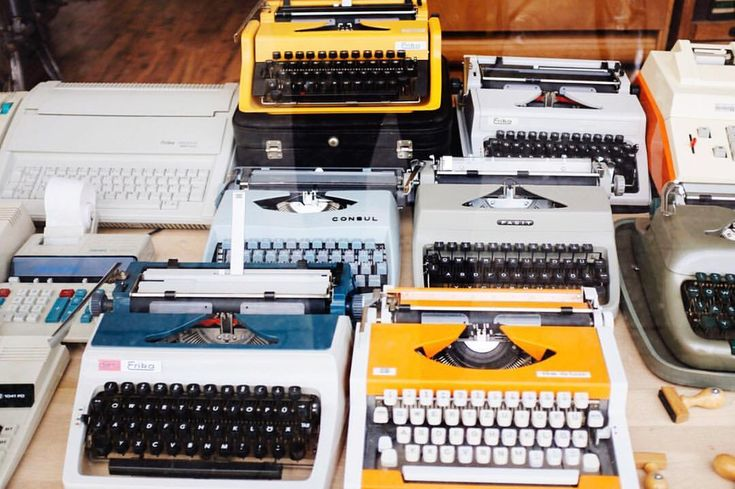 I bought my first typewriter at age 11. It was sitting on the lawn at a garage sale, down the end of my grandmother's street (I call her Yiayia). We used to love spending Saturday mornings browsing markets or garage sales together. I'd get a hold of her newspaper and Id sit down on the floor with it each week, turning to the 'classifieds' section and I'd circle all the ads for nearby garage sales that weekend.