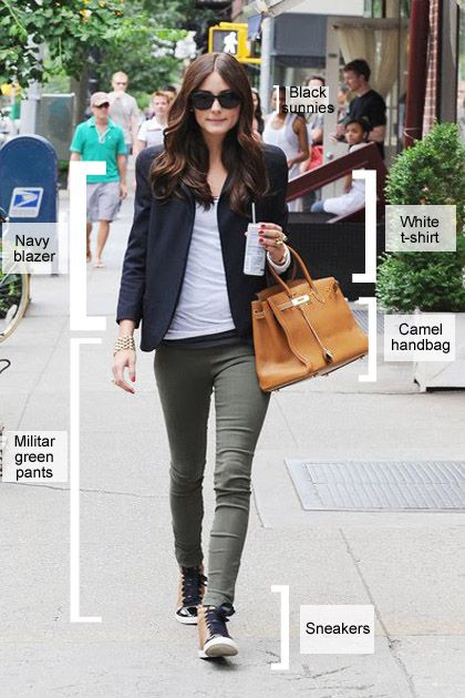 Olivia Palermo - this is what I consider my quintessential look: blazer, skinny jeans, bag (granny hold) and sunglasses :)