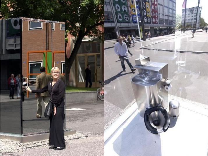Toilet in town