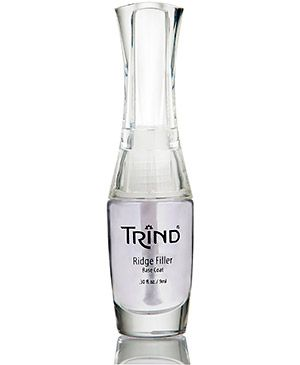 Trind Ridge Filler is a base coat, which fills ridges and unevenness in the nail. This results in a smooth, even surface for the application of nail polish. Via trind.ca/ #beauty #health #nailcare