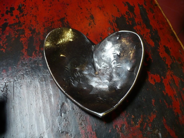 Heart of Steel - Forged Heart Bowl - Art At Hand