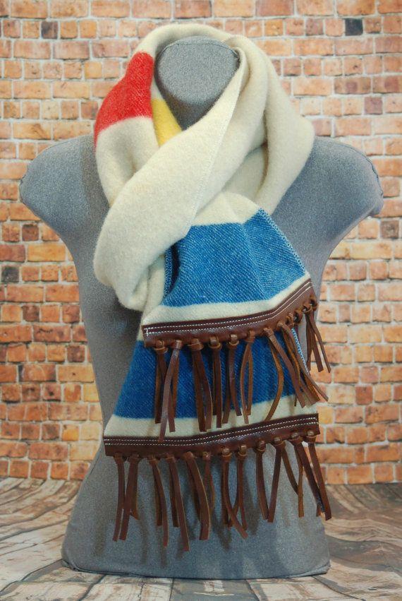 Wool Blanket Scarf by KreativeFibers on Etsy