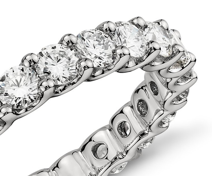 U-Prong Eternity Diamond Ring in Platinum (2 ct. tw.) | Blue Nile
