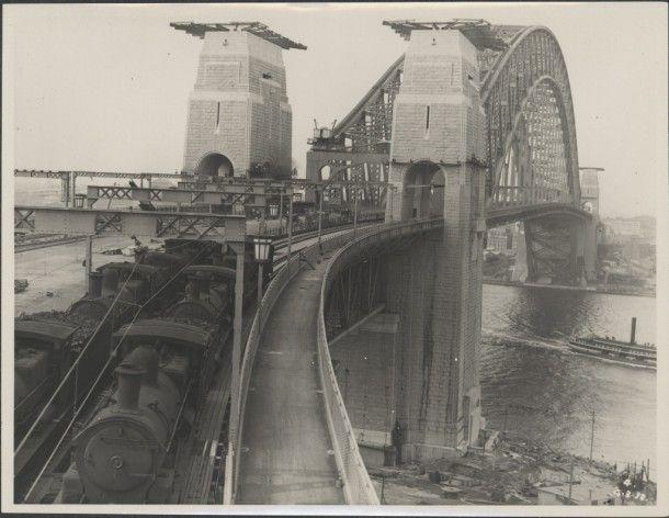 Trains on the Sydney Harbour Bridge,1932 Courtesy of the Powerhouse Museum