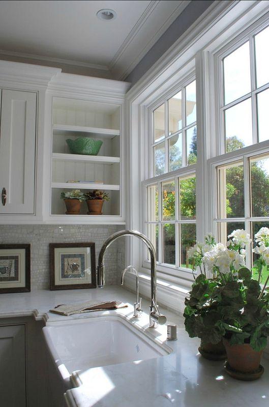 Great window and open shelve.