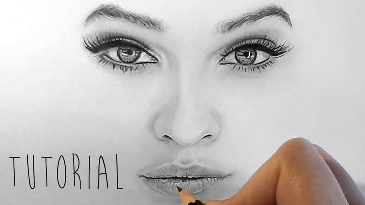 How to shade and draw realistic eyes, nose and lips with graphite pencil...