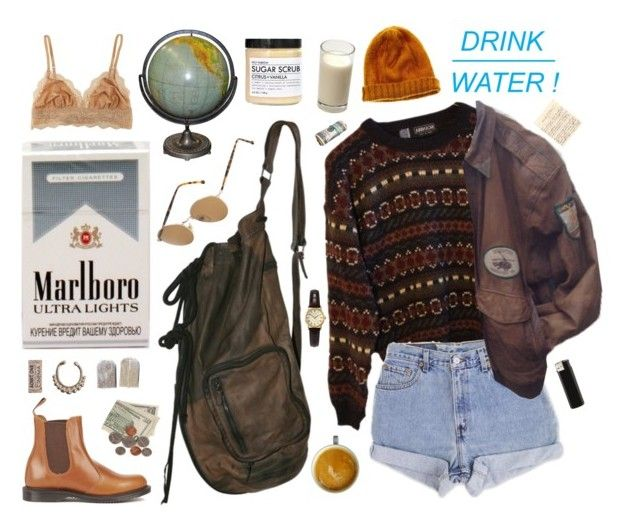 """""""breezy autumn morning"""" by greenbeanteen ❤ liked on Polyvore featuring Persol, Dr. Martens, INDIE HAIR, VidaKush, Levi's, Madewell, Fig+Yarrow and Sekonda"""